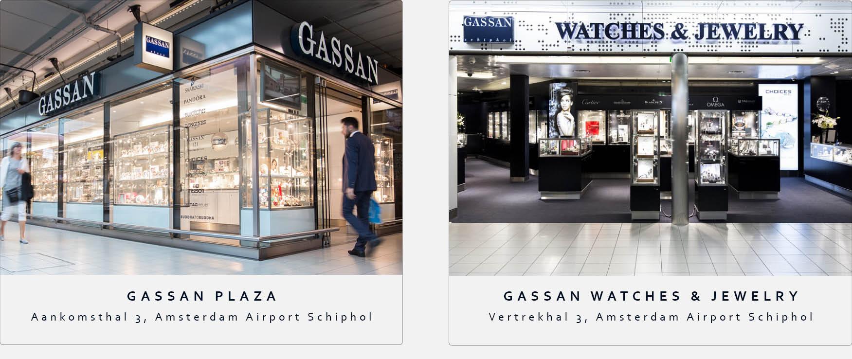 GASSAN Schiphol winkels