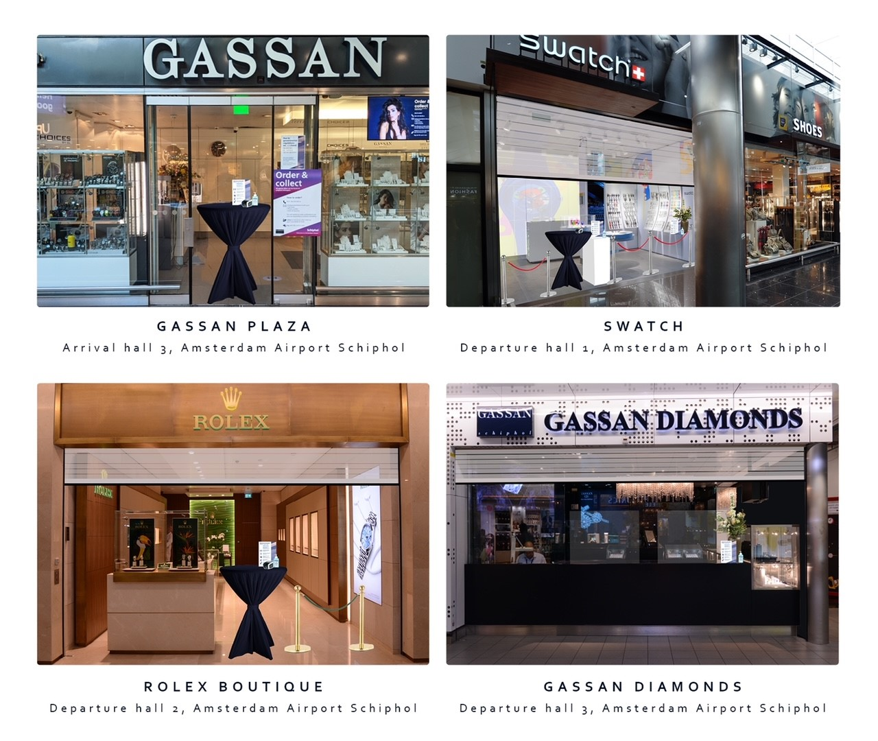 Order&Collect ophaalpunten GASSAN Schiphol